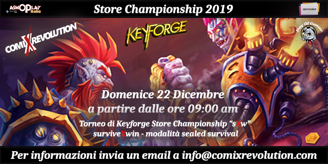 ComiXrevolution – Torneo Store Chamopionship 2019
